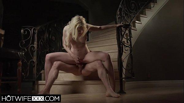 Tiny Big Tit Blonde Wife Fucks New Cock