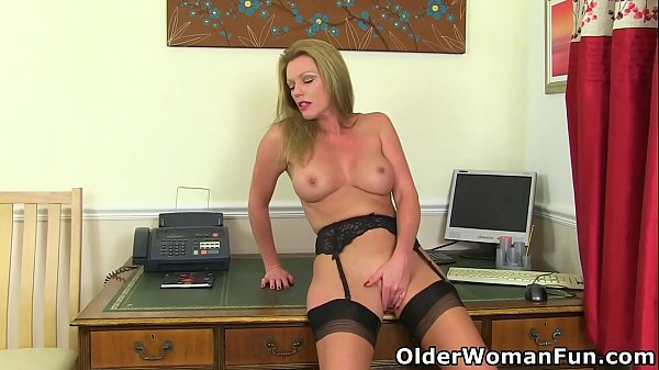 British milf Holly Kiss will be your hot secretary today