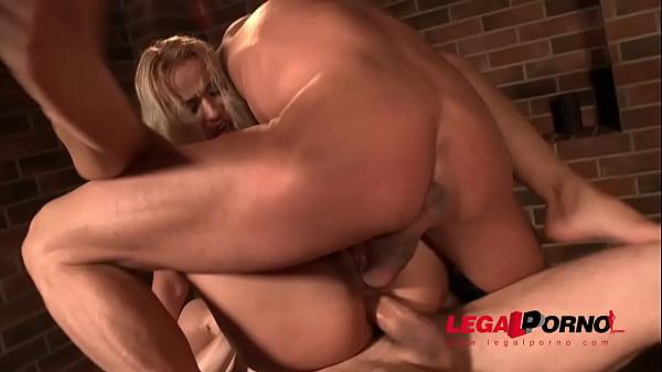 Hot Serbian Cherry Kiss 3on1 Airtight DP and Ultra Rough Deepthroat
