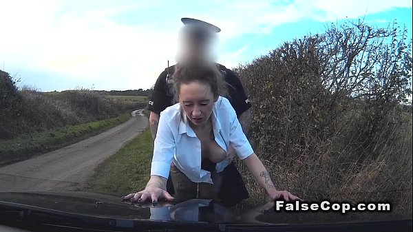 Busty blonde recognized fake cop and fucked him Thumb