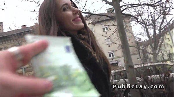 Russian babe flashing panties in public