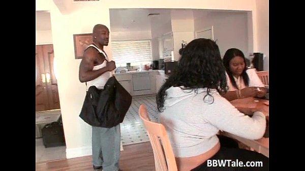 Ebony girl with big booty sucks