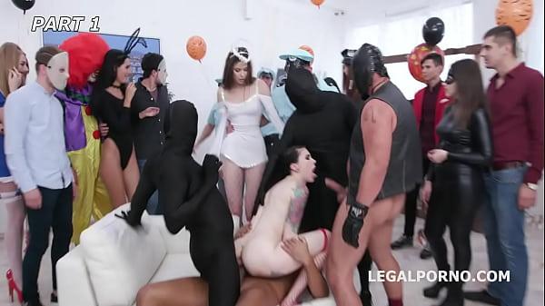 Anal Halloween #1 Anna de Ville shows everyone how to handle multiple dicks, Balls Deep Anal, DAP, Gapes GIO1256