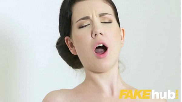 Female Agent Shy french minx in orgasmic dildo fucking casting