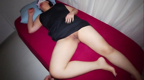 Stepson sneaks into her mom hotel room and fucked her.