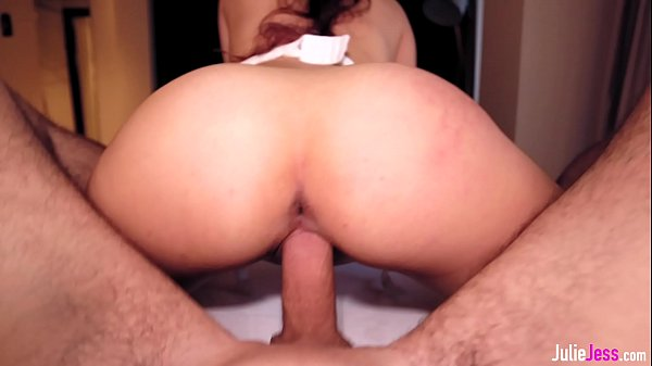 Young Babe Loves To Ride Thick Cock - Reverse Cowgirl POV Thumb