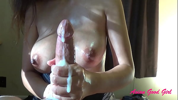 Perfect Asian milf gives handjob with ruined orgasm