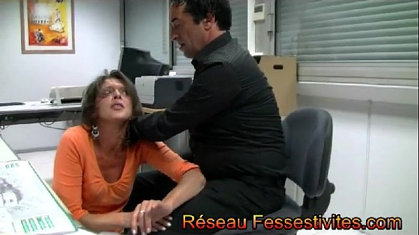 The boss spanks his employees