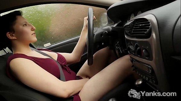 Yanks Jenny Mace Orgasms While Driving Thumb