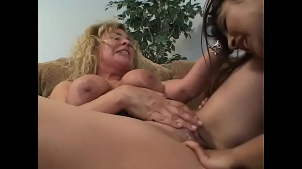 Blonde and latina lesbian whores finger and lick their clits before anal fucking with dildo