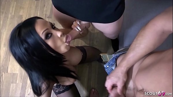 SEXY GERMAN MILF GROUP FUCK AT HOME by 3 guys i...
