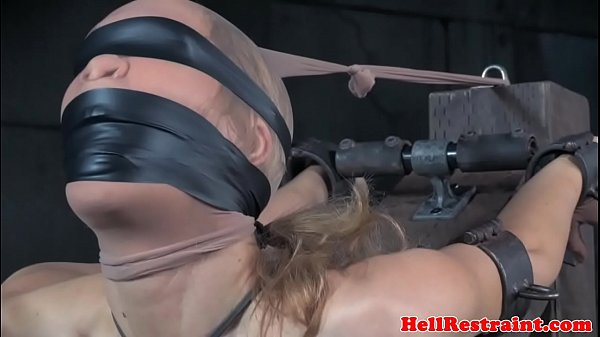 BDSM slave gets gagged and canned