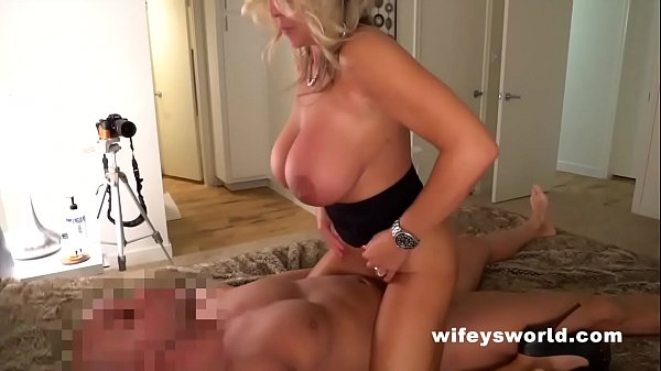 Wifey Fucks Her Boy Toy And Jerks His Cum All O...