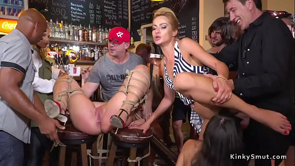 Mistress and slave anal fucking in public Thumb