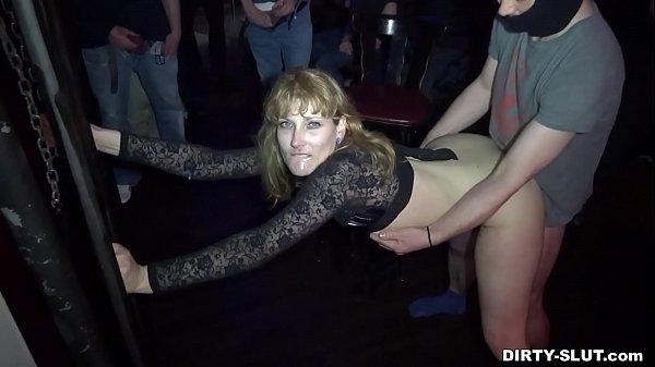Naughty wife Nicole gangbanged by everybody at ...