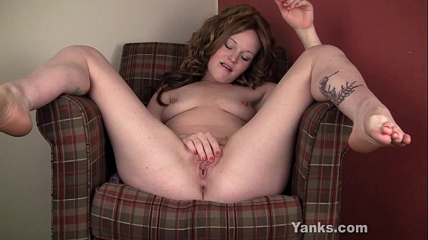 Excited Lori Toying Her Shaved Muff