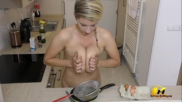 Breaking and Crushing Eggs by My Tits