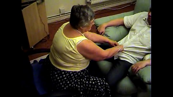 Grandma libby from EpikGranny.com gives blowjob and footjob