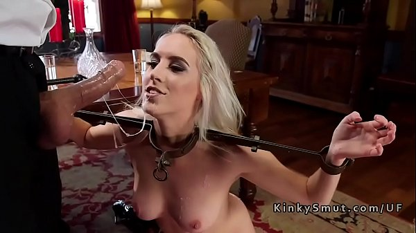 Two blonde stepsis sharing dick in bondage Thumb