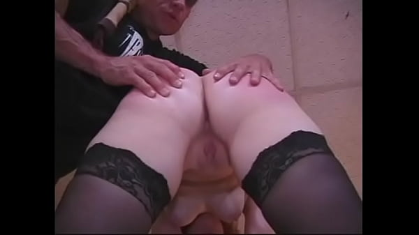 Lustful redhead with tight pussy gets her ass smacked by bossy old guy in an office
