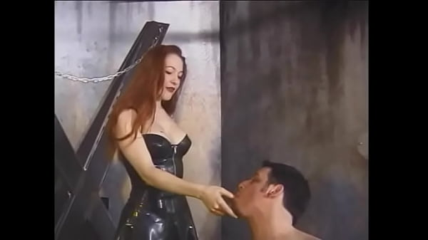 Two redhead chicks with great tits tie up a guy and hang a lot of clothespins on his body