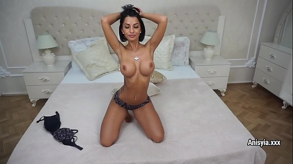 Anisyia shows her perfect body and plays with b...