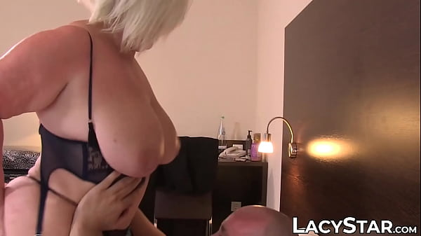 BBW Lacey Starr sucking cock off waiter and fuc...