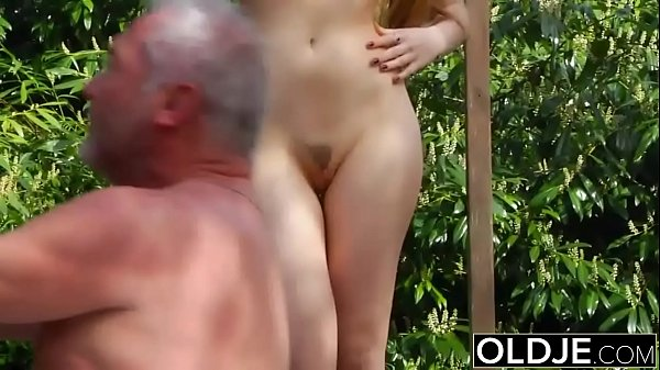Old Young Porn - Teen Fitness Yoga Teacher seduces and fucks an old man Thumb