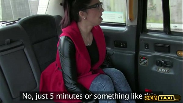 Sexy Spanish tourist rides a taxi and gets a free hot sex