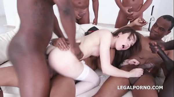 Black busters 6on1 Gang Bang with Monika Wild - No Fucking Limits