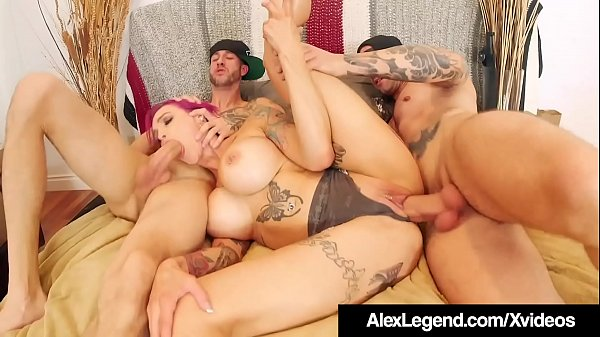 Inked Milf Anna Bell Peaks Wrecked By Alex Lege...