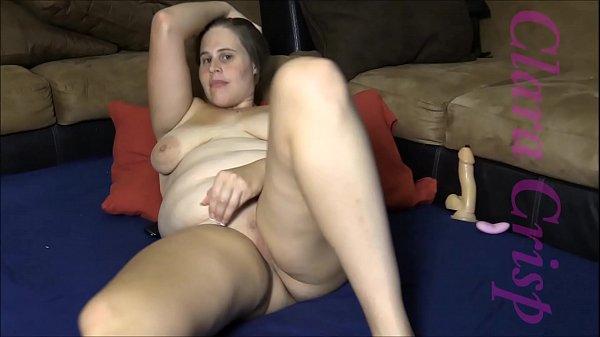 Chubby Brunette Fingering, Using Vibrator and Dildo To Cum Hard