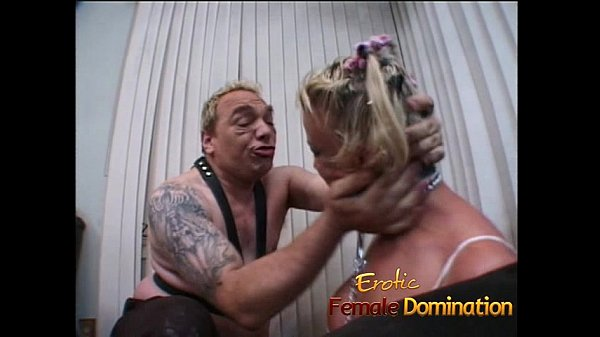 Saucy blonde bitch with big naturals enjoys some kinky fun