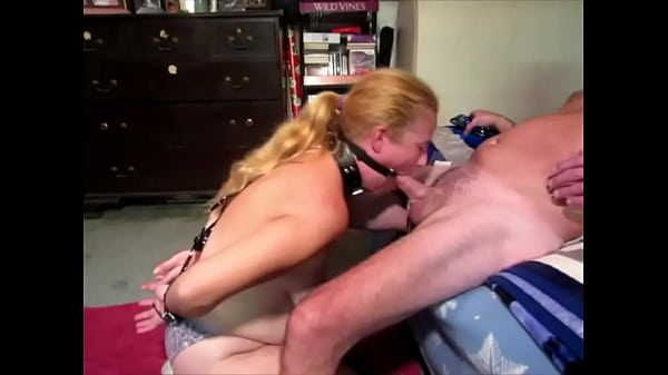 Open mouth gag and handcuffed