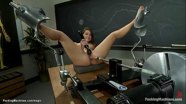 Student fucks machine in classroom