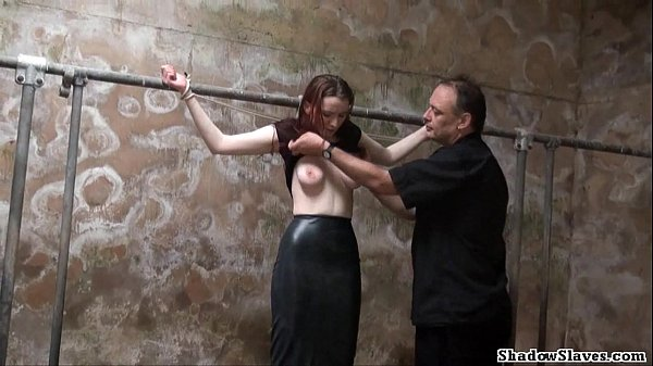 Filthy slaveslut whipping and dirty dungeon t. ...