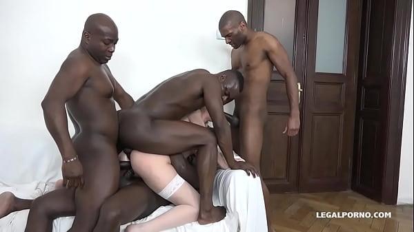 Luna Melba is back to test 4 Big Black Cocks - ...