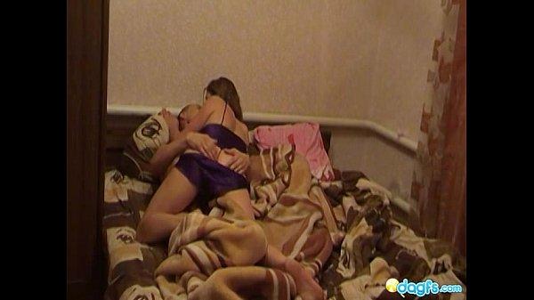 Hot gf Stasya satisfies her bf in bed