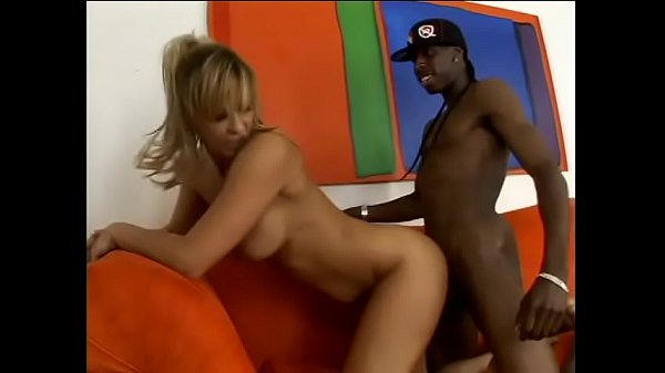 Blonde cougar with big melons Phyllisha Anne likes to feel huge black dong smashing her pink twat