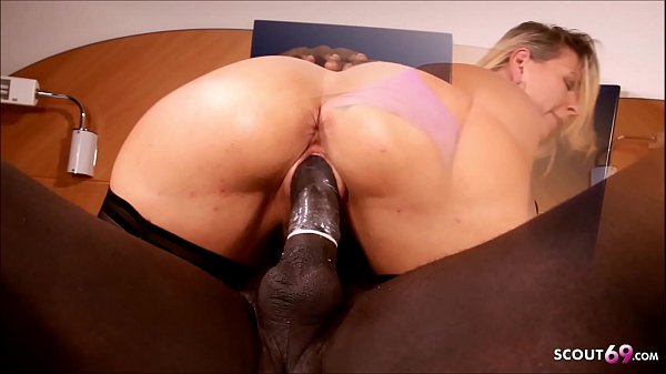 German Wife Ride Black Monster Cock and own Husband filming