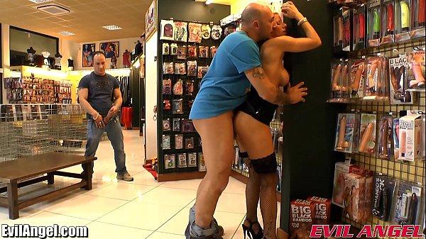 EvilAngel Big Tits Blonde Anal Threesome