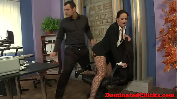 Dominated eurobabe fingered and facialized