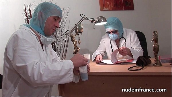 Naughty blonde ass plugged in threesome at the gyneco  thumbnail