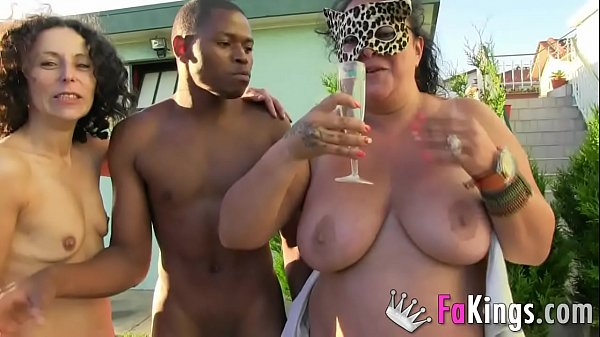 She was tired of normal sex, so cuck husband arranged a THREESOME WITH A WOMAN AND A BLACK DUDE Thumb