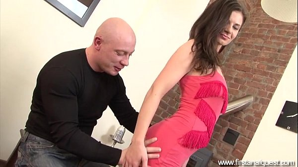 FirstAnalQuest.com - ANAL LOVE WITH A PRETTY GIRL DRILLED BY A BIG COCK