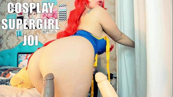 Cosplay SuperGirl Punheta Guiada, mandando na t...