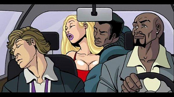 3d Interracial Cartoon Blowjob