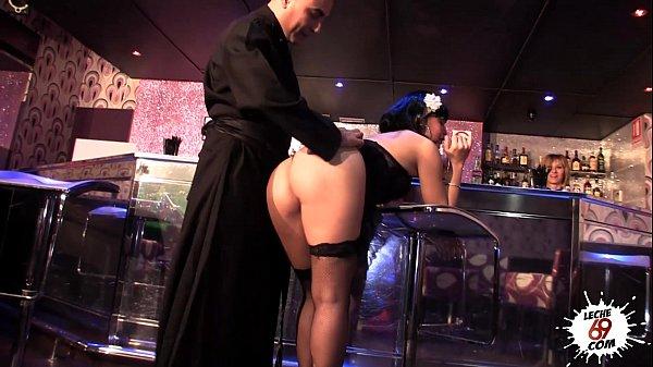 priest fucking whore in club