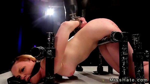 Blonde Marie McCray in bondage device hard flogged and pussy toyed (Join Now! EasyFuck.org)