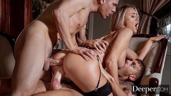 Deeper. Cheating Natalia gets DPed by hubby & l...